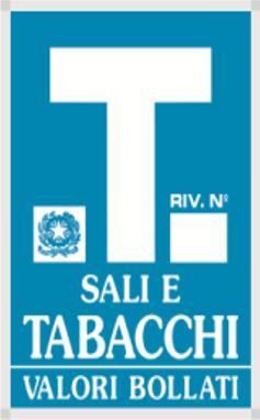 Los billetes de bus en Roma se compran en los estancos, distinguidos por esta señal.